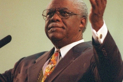 CONTACT FILED:  REV. CHARLES L. JACKSON 4/25/99 Rev. Charles L. Jackson, pastor of Pleasant Grove Missionary Baptist Church.  #30842  HOUCHRON CAPTION (05/29/1999):   The Rev. Charles L. Jackson preaches to a devoted congregation during a service at Pleasant Grove Baptist Church.